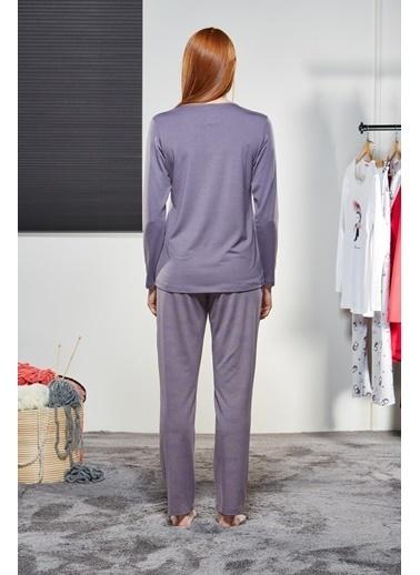 Pjs Pjs 21123 Bayan Pijama Takım  Lila